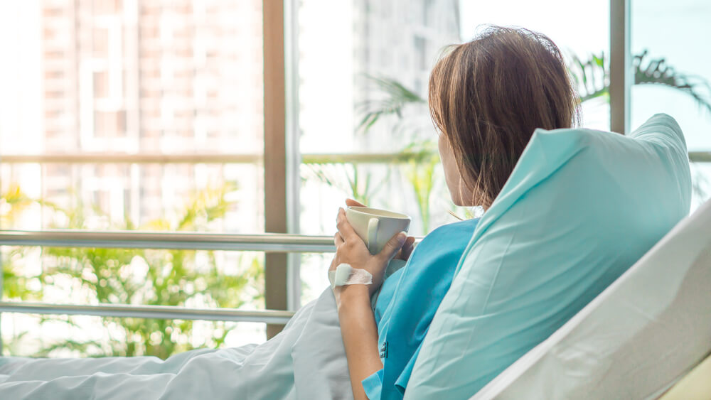 Woman in hospital sees trees outside window and receives health benefits